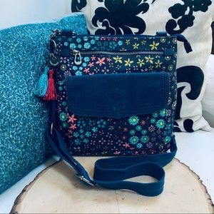 SAKROOTS Crossbody Bag Daisys /Floral Blue/Teal